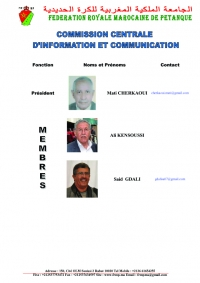COMMISSION CENTRALE  D'INFORMATION ET COMMUNICATION